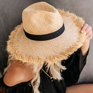 04b88a366ea Accessories - Beach sun hat floppy wide brim ribbon straw